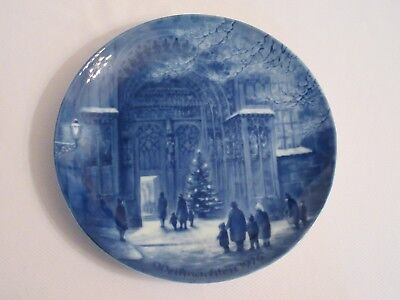 Berlin Design 1976 Christmas Plate W Germany Augsburg Cathedral on Christmas Eve