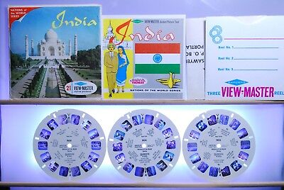 India 3-reel Set B235 - Sawyers S6b ed. A View-Master Packet - Complete