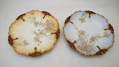 Pair of Antique Lewis Strauss Straus & Sons Limoges Hand Painted Plates LS&S #2