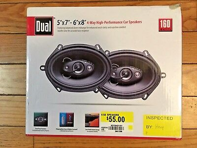 DUAL 5x7 6x8 4-WAY HIGH PERFORMANCE CAR SPEAKERS
