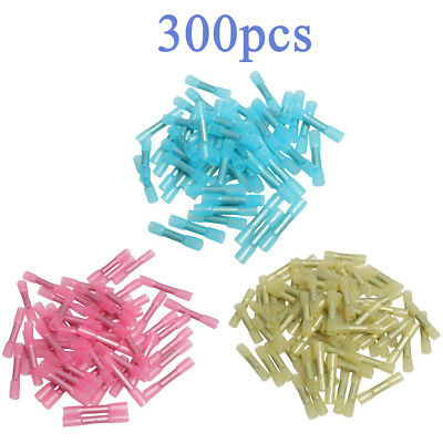 300 Insulated Heat Shrink Butt Electrical Crimp Terminal Wire Connector HOT SALE
