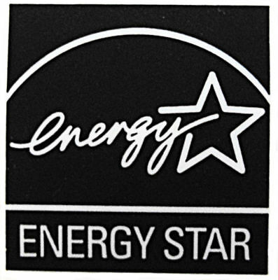 Energy Star Sticker 12.5mm x 13mm Black - New & Genuine