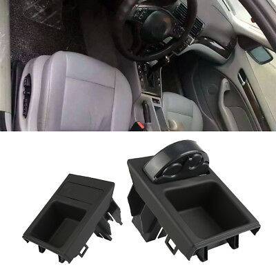 1x Black Plastic Front Center Console Storing Coin Box For BMW E46 3Series 98-05