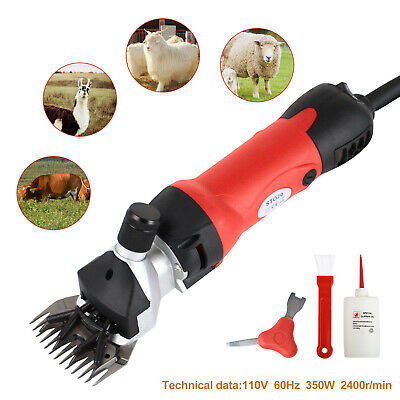 350W Sheep Goat Shears Clippers Electric Animal Shave Grooming Farm Red