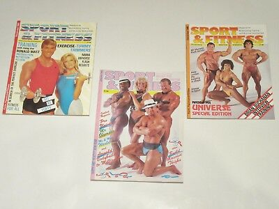 Sport & Fitness Bodybuilding Magazine November 1985 December 1985 & January 1988
