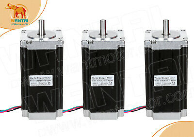 【USA Ship】3PCS Nema23 stepper motor 425oz-in,4.2A, WT57STH115-4204A CNC Engraver