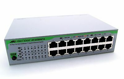 Allied Telesis AT-GS900/16 Gigabit Ethernet Switch 16 Port 10/100/1000 klein