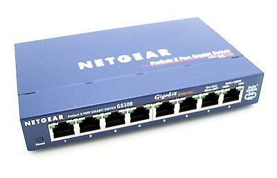 NETGEAR GS108 8-Port Gigabit-Kupfer-Switch
