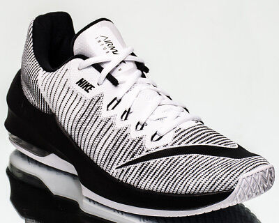 6105d5ab8b98e Nike Air Max Infuriate 2 Low men basketball shoes new white black 908975-100