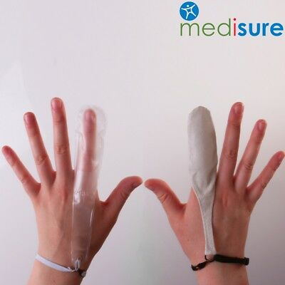 SMALL-EXTRA LARGE FINGER DRESSING COVERS Plastic Leather Bandage Protector Stall