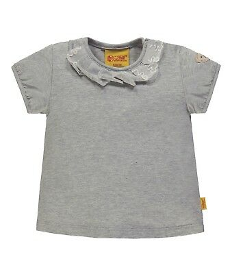 Steiff Mini Girls T-Shirt 1/4 Arm gr. 62 / 3 Monate habor mist gray