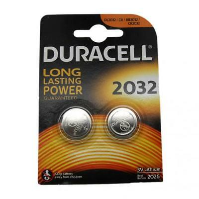 2x Duracell CR2032 3V Lithium Button Battery Coin Cell DL/CR/BR 2032 Expiry 2026