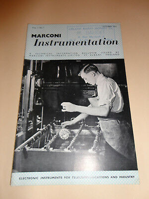 marconi instrumentation electronic telecommunication vol. 3 n° 7 1952