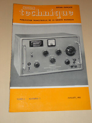muirhead technique electronic tome 6 n°3 1952