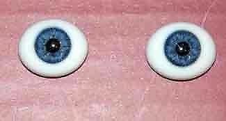 18mm Oval Glass ~ Blue Eyes - Reborn Doll Supplies 445