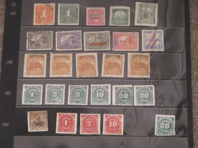 Nicaragua, Miscellaneous, mostly unused (hinged) (25)
