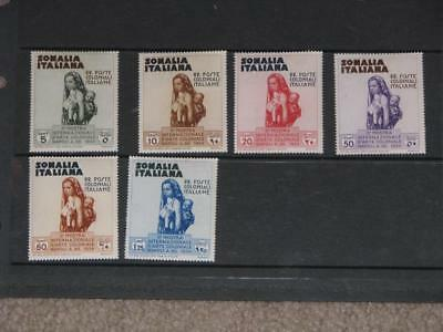 Somalia Italiana, Scott# 164-69 mint hinged