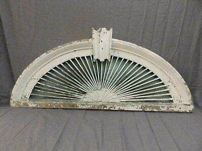 Antique Architectural Sunburst Fan Shabby Pediment Vtg Chic Arch 48x21 670-17P
