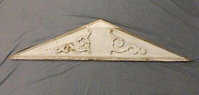 Large Antique Triangle Pediment Header Old Vintage Shabby Victorian Chic 672-17P