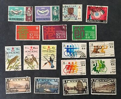 Old Hong Kong Stamps: 7 Sets, 18 Stamps, Used