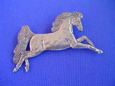 Stylized Horse pin Leaping Pewter dog and horse jewelry by Cindy A. Conter 37b