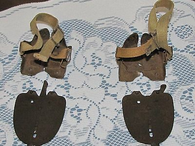 Antique Two Piece Metal Strap-on Snow Ice Walking Shoe Contraption (18)