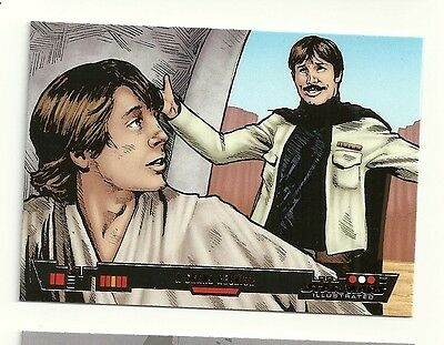 2013 Topps Star Wars Illustrated BRONZE PARALLEL #6 A Grand Reunion