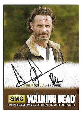 2016 The Walking Dead Season 4 Part 2 Autograph AL3 Andrew Lincoln / Rick Grimes