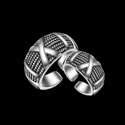 Newest Jewelry Men' Alloy Ring Silver Fashion Gothic Punk Ring Adjustable