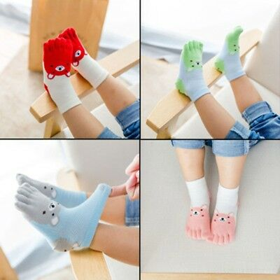 New Kids Toe Socks Girls Boys Cute Bear Five Fingers Sock Breathable Hosiery
