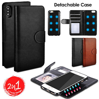 Shockproof Magnetic Flip Wallet Leather Case Slim Cover For iPhone XS Max 8 Plus