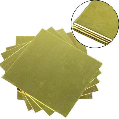 1pcs 1.5mm x 100mm x 100mm H62 Brass Metal Sheet Plate Block Slice