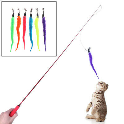 Funny Cat Toy Plush Replacement Kitten Pet Dogs Teaser Play Interactive Feather