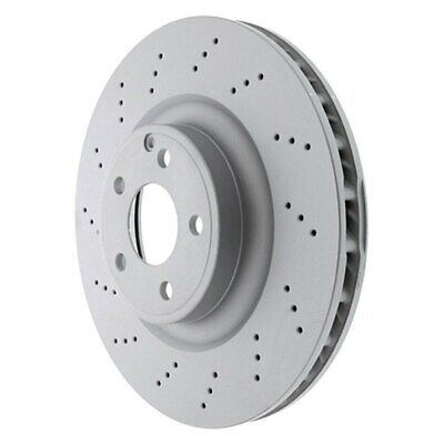 NEW Pair Set of 2 Front Disc Brake Rotors Vented Cross Drilled OES For Benz W212