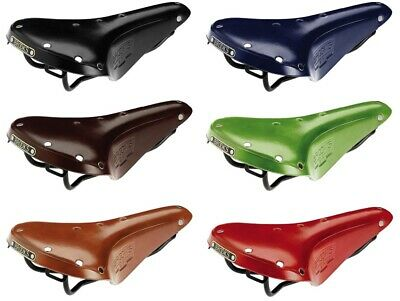 Brooks B17 standard leather bicycle saddle for touring use, various colors