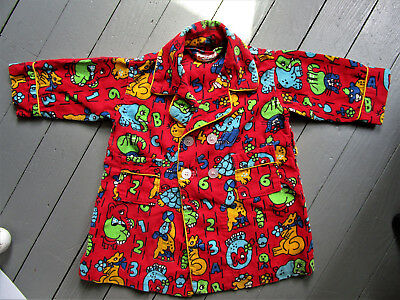 Vintage Toddler Robe, By Tom' N Jerry, Colorful Animal Print, Size 2, Adorable!