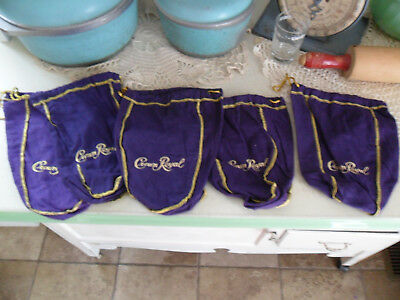 Lot of (5) Pre-Owned Crown Royal Bags