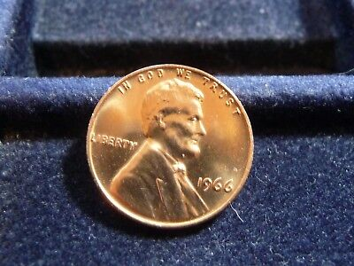 1966-p LINCOLN CENT FROM SMS SET L-23-17