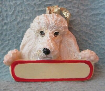 White Poodle Dog Christmas Ornament