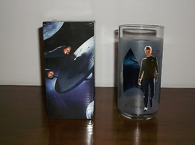 STAR TREK KIRK COLLECTIBLE BURGER KING GLASS Cup  2008 NEW - One