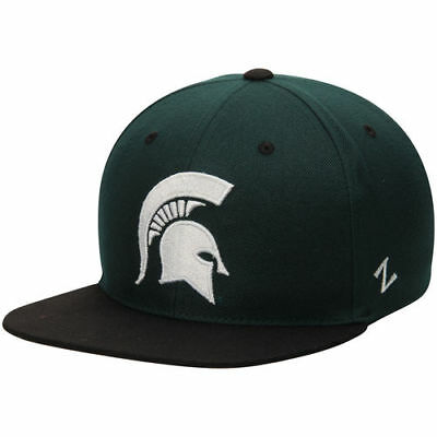 a6e0e46c0e0 ZEPHYR MICHIGAN STATE Spartans Green Black Z11 Snapback Adjustable ...