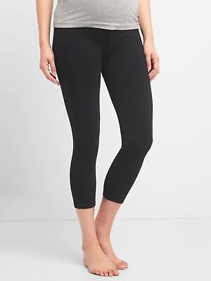 Gap Maternity Pure Body Low Rise Capri Leggings Size S- Black- NWT*