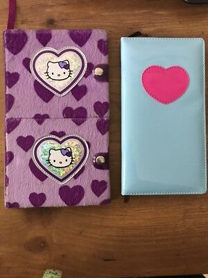 NEW Pair of girl's notebooks- Hello Kitty Day/Night Journal & Heart Notebook