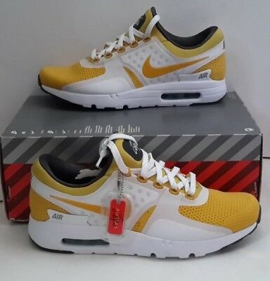 watch ca99b c95af Men's Nike Air Max Zero Qs Athletic Running Shoes 789695 100 Sz 9.5 Yellow  White