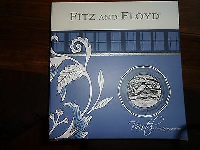 Fitz And Floyd Bristol Holiday 2016 Collector's Plate Beautiful Blue