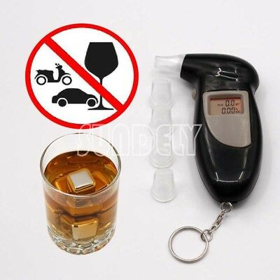New LCD Digital police breath breathalyzer test alcohol tester analyzer detector