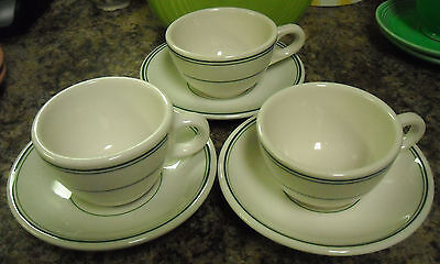 Homer Laughlin Vintage Retro Restaurant Ware China Cups & Saucers (3)