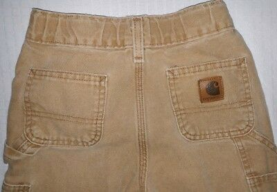 CARHARTT Dungaree Fit BROWN Duck Pants~Boy/Girl~ 5 Reg~ Worn~Broken In~ Painter