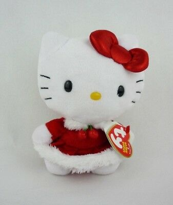 Ty Hello Kitty im roten Weihnachtskleid The Beanie Babies Collection Plüsch 15cm