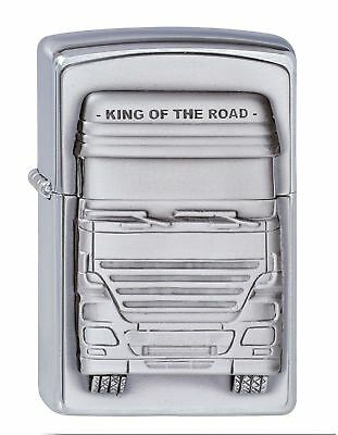 ZIPPO Unisex Adult TRUCKERS - KING OF THE ROAD EMBLEM WINDPROOF POCKET LIGHTE...